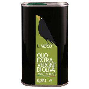 Latta da 0,25L Il Merlo Olio Extra Vergine di Oliva