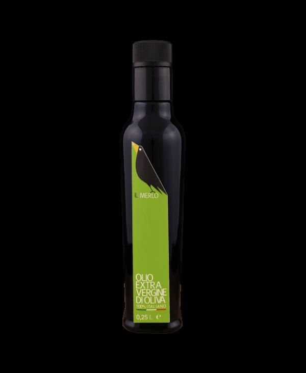 Bottiglia da 0,25L Il Merlo Olio Extra Vergine di Oliva