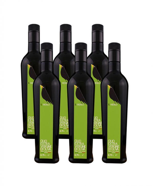 Cartone da 6 bottiglie - 0,75L Il Merlo Olio Extra Vergine di Oliva