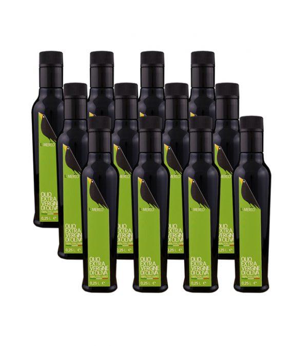 Cartone da 12 bottiglie - 0,25L Il Merlo Olio Extra Vergine di Oliva